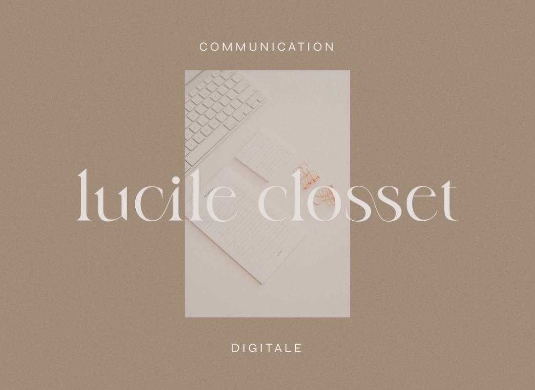 Logo de Lucile Closset sur photo et fond photo