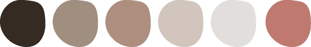 Nuancier/palette couleur pour Lucile Closset