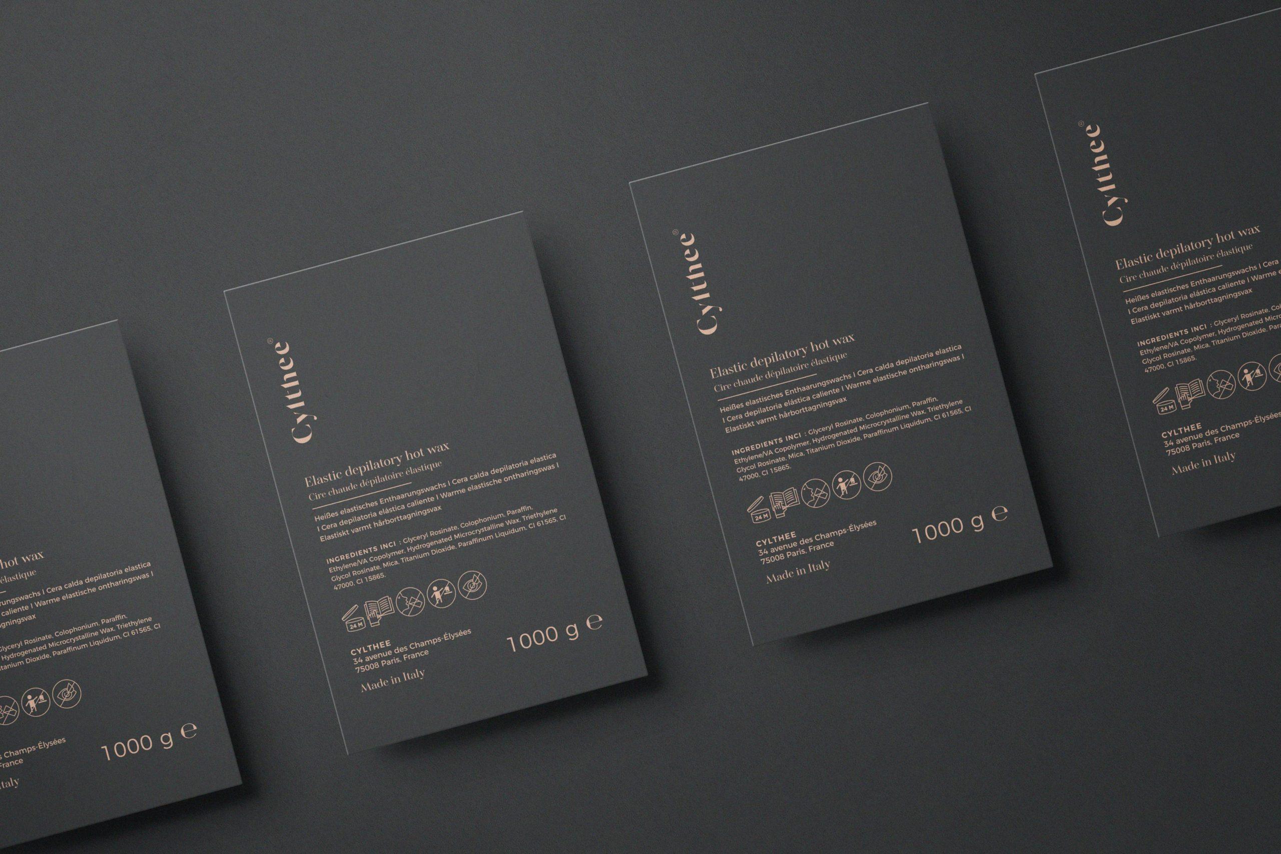 Mockup de l'étiquette du packaging de Cylthee